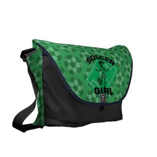 Design för fotboll för modefotbollflicka kurir väskor
