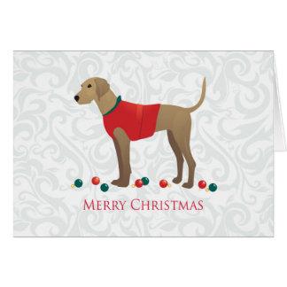 Design för god jul för hund för Plott hundjakt Hälsningskort