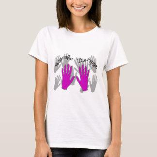 Design för händer för massageterapeut ROSA Tee Shirt