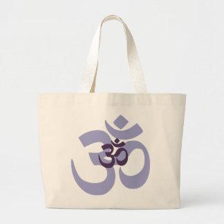 Design för hindi för lilaOm Aum för yoga & meditat Jumbo Tygkasse