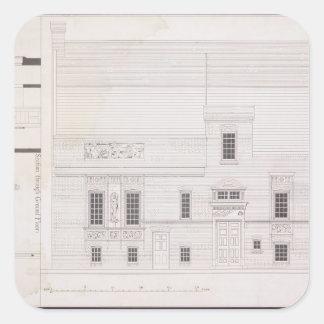 Design för hus & studion för J.A.M. Whistler Esq, Fyrkantigt Klistermärke