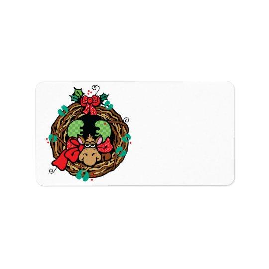 design för julälgkran adressetikett