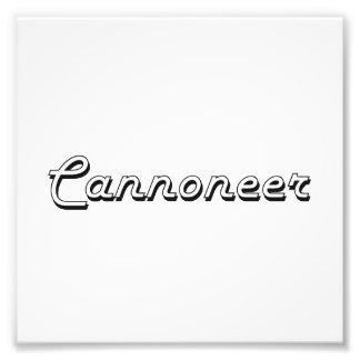 Design för kanonjärklassikerjobb fototryck