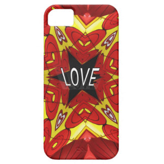 """Design """"för kärlek"""" för röd gul Hippie Retro iPhone 5 Skydd"""