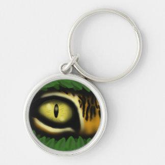 Design för keychain för coola för konst för rund silverfärgad nyckelring