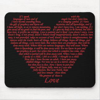 Design för konst för hjärta för kärlek för musmatta