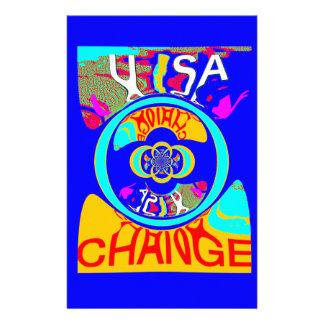 Design för konst för USA Hillary ändringsmönster Brevpapper