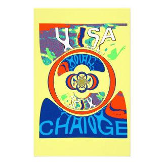 Design för konst för USA Hillary härlig Brevpapper