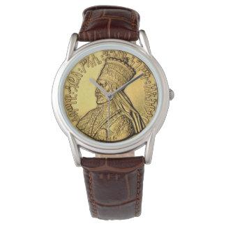 Design för kung för Haile Selassie klocka forntida
