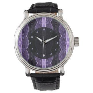 design för lilasvartabstrakt armbandsur