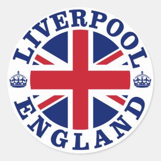 Design för Liverpool vintageUK Runt Klistermärke