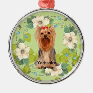 Design för löv för grönt för ~ för Yorkshire Julgransprydnad Metall