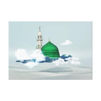 Design för Madina östlig arab c för islamisk Canvastryck