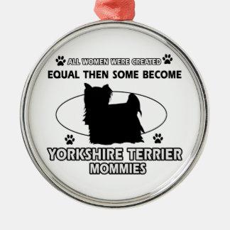 Design för mammor för Yorkshire Terrier Julgransprydnad Metall