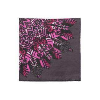 Design för Mandala för trasaservetter rosa Tygservett