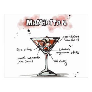 Design för Manhattan drinkrecept Vykort