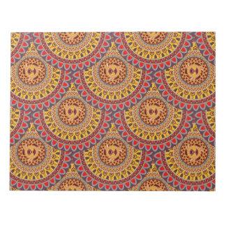 Design för mönster för Boho mandalaabstrakt Antecknings Block