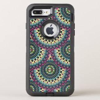 Design för mönster för Boho mandalaabstrakt OtterBox Defender iPhone 7 Plus Skal