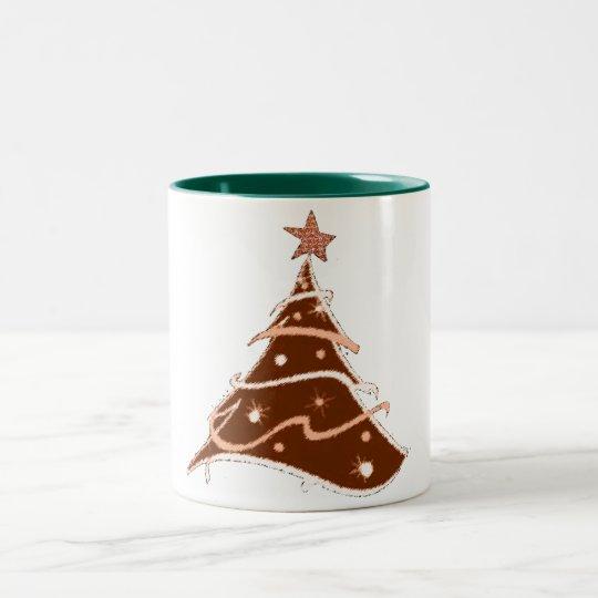 design för mugg för julgranhelgdagdesign