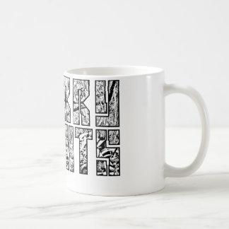 Design för mugg för villebrådhöjddjungel (Blk
