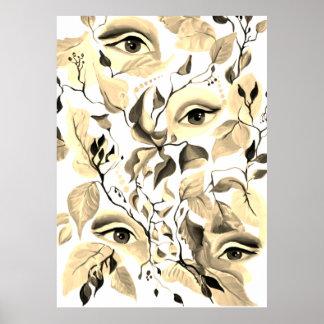 Design för ögon för UtopianSepia overklig Poster