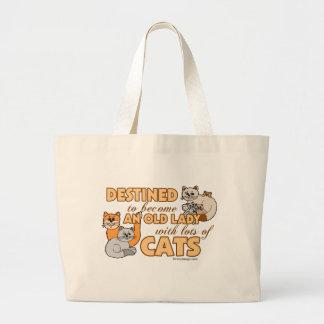 Design för ordstäv för framtida galen kattdam jumbo tygkasse