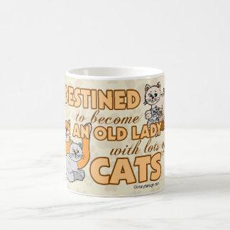 Design för ordstäv för framtida galen kattdam kaffemugg