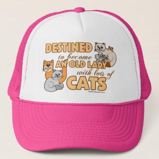 Design för ordstäv för framtida galen kattdam truckerkeps