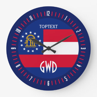 Design för personligGeorgia statlig flagga på Stor Klocka