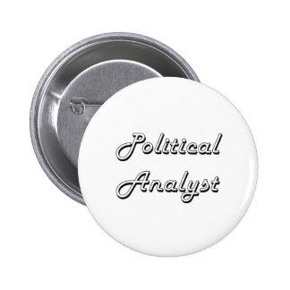 Design för politisk analytikerklassikerjobb standard knapp rund 5.7 cm