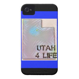 """Design för pride för karta """"för Utah 4 liv"""" iPhone 4 Case-Mate Fodraler"""