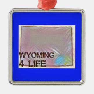 """Design för pride för karta """"för Wyoming 4 liv"""" Julgransprydnad Metall"""