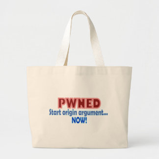 Design för Pwned Pwn ägd Gamerursprung Jumbo Tygkasse