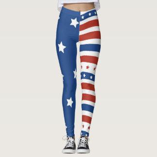 Design för randar för stjärnor för flagga för leggings