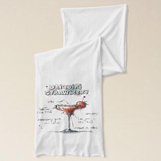 Design för recept för jordgubbeDaiquiridrink Sjal