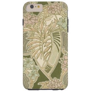 Design för Rene Beauclairs art nouveaublomma Tough iPhone 6 Plus Skal