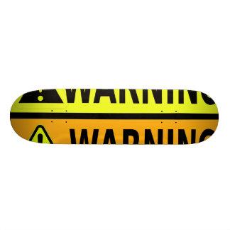 Design för Skateboardvarningsetikett Old School Skateboard Bräda 21,6 Cm