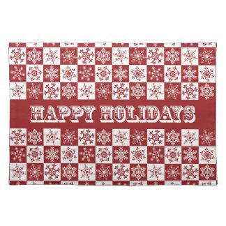 Design för Snowflake för traditionell landjul röd Bordstablett