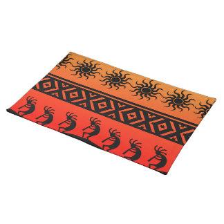 Design för Southwest för Kokopelli stam- ökensol Bordstablett