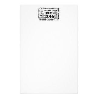 Design för tryck för trumf 2016 sätta en klocka på brevpapper