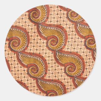 Design för tyg för snigelsnäcka afrikansk runt klistermärke