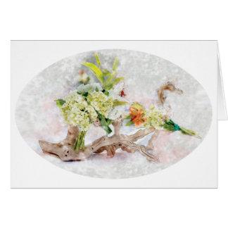 Design för vanlig hortensiaBella vattenfärg av Ana Hälsningskort