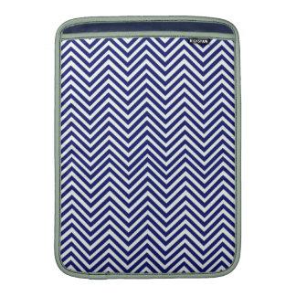 Design för vintage för populär blåttsicksacksparre MacBook air sleeves