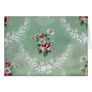 Design för vintagebukett med rosortapet hälsningskort