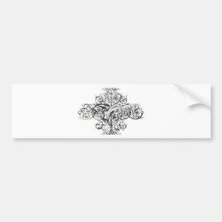 Design för vintagerullatypografi bildekal