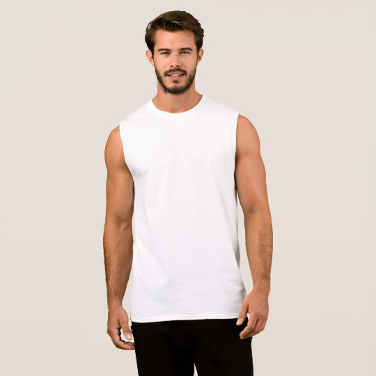 Ultra Cotton Ärmlös T-Shirt, Herr, Vit
