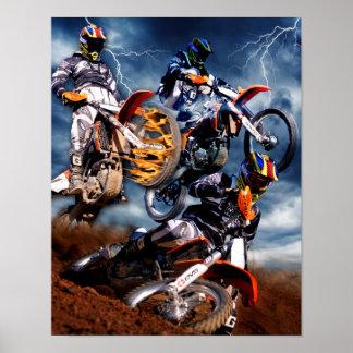 Designad Motocrossaffisch Poster