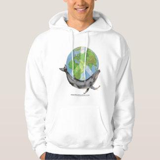 Designen för puckelryggvalfred tröja med luva