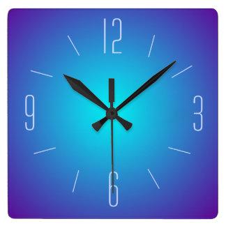 Designen > väggen för flott blått tar tid på den fyrkantig klocka