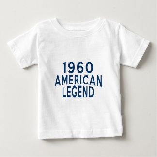 Designer 1960 för amerikanlegendfödelsedag tshirts
